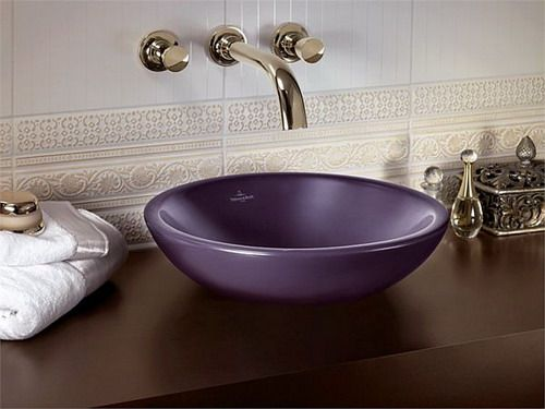 purple small bathroom sink pictures
