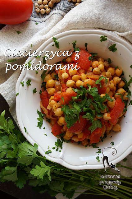 Kulinarne przygody Gatity: Ciecierzyca z  pomidorami