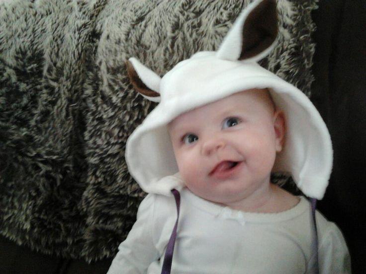 White animal hat