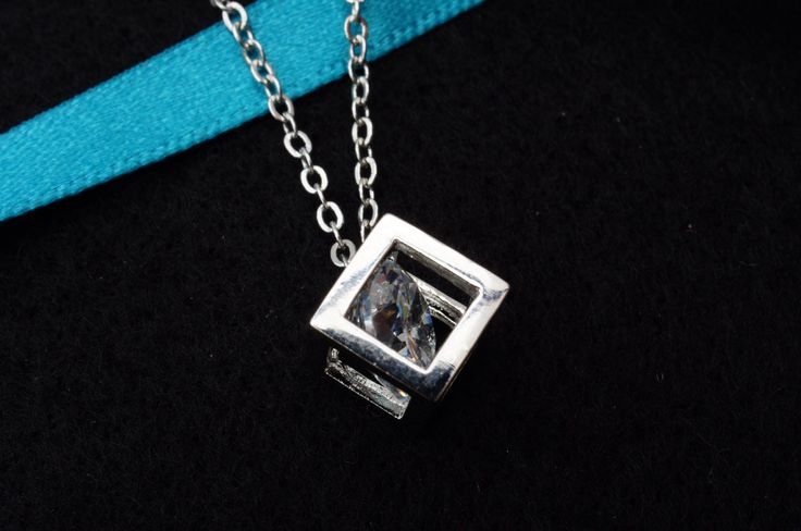 Crystal cube necklace £7.99