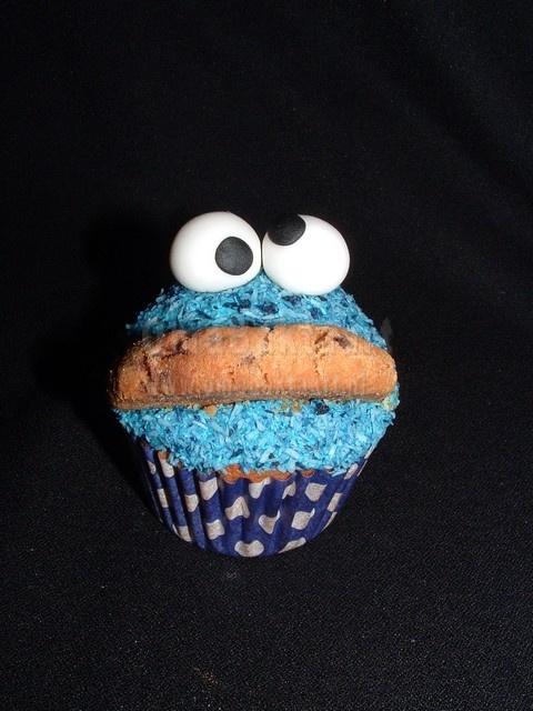 Oma Baktaart - Koekie monster Cupcakes