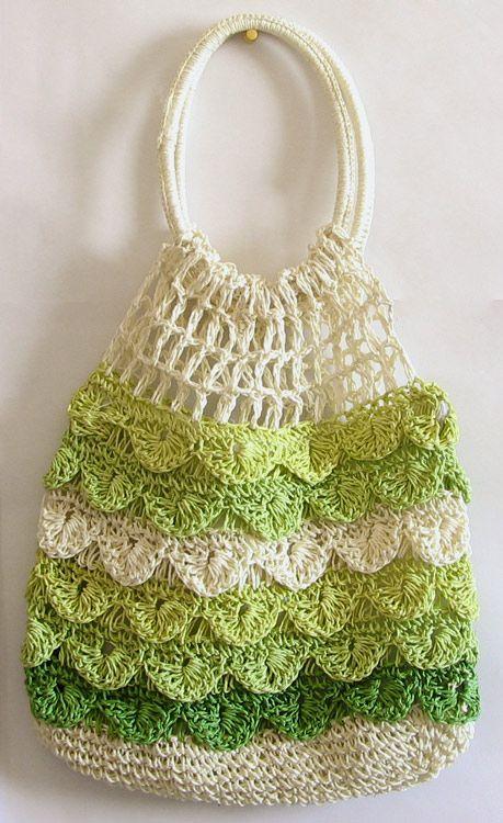 crocodile crochet bag