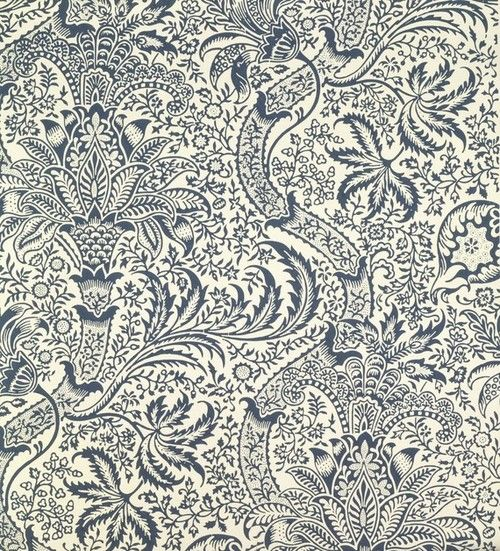 William Morris, n.d, Indian (wallpaper design), the original wooden block used to print this design is in the Cole and Son block archive.
