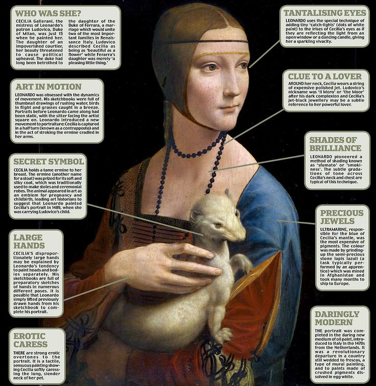 238. newspaper article at Mail Online...Decodying a da Vinci masterpiece:Behind the secret symbols of The Lady with an Ermine.