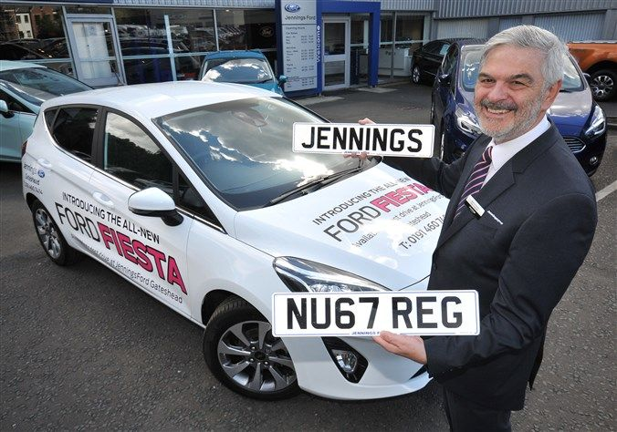 New car sales success for 67 registration plate at Jennings Ford