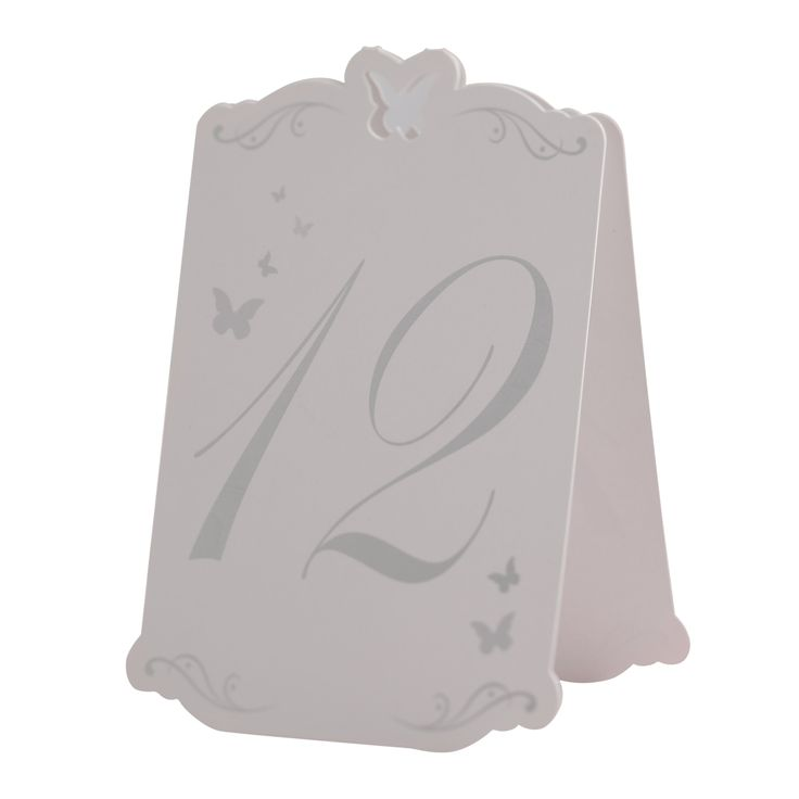 Ginger Ray Butterfly Table Numbers Tent Card - Weddings, Parties, Events - Numbers 1-12: Amazon.co.uk: Kitchen & Home