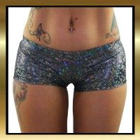 Hot and sexy black sparkle hologram gym shorts, great for pole dancing, dance routines or yoga $29.95 XS to XL #activewear #poledancingshorts