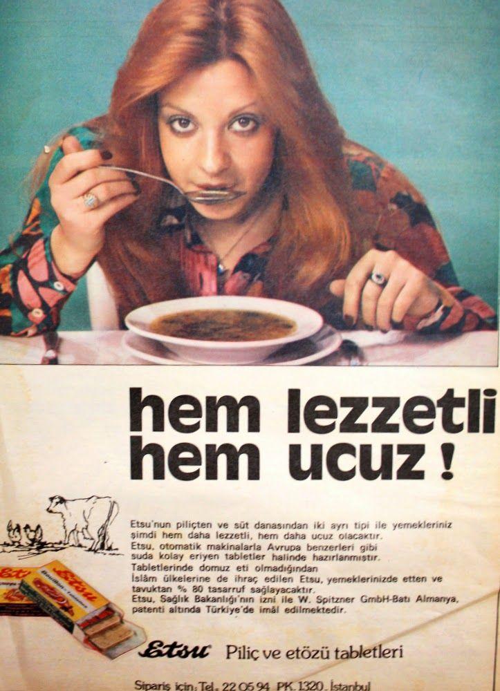 OĞUZ TOPOĞLU : etsu bulyon tablet 1975 nostaljik eski reklamlar 3...
