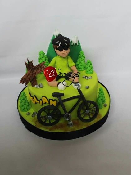 Torta  Ciclista 100 % Comestible