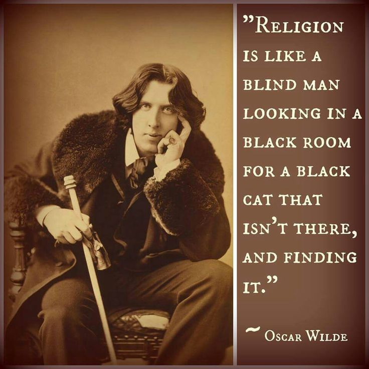 Oscar Wilde on religion...                                                                                                                                                                                 More