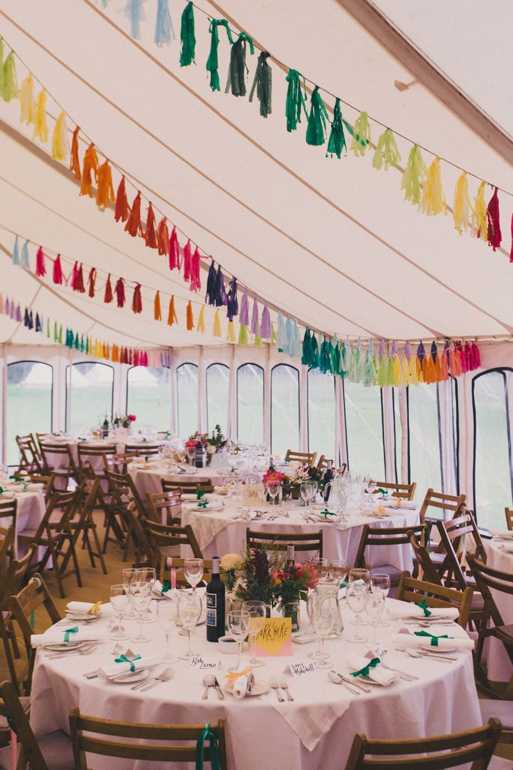 Laure De Sagazan Bridal Separates Colourful At Home Marquee Wedding