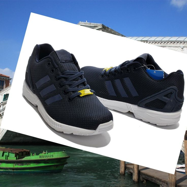 Adidas Originals ZX Flux Scarpa Unisex Blu Scuro HOT SALE! HOT PRICE!