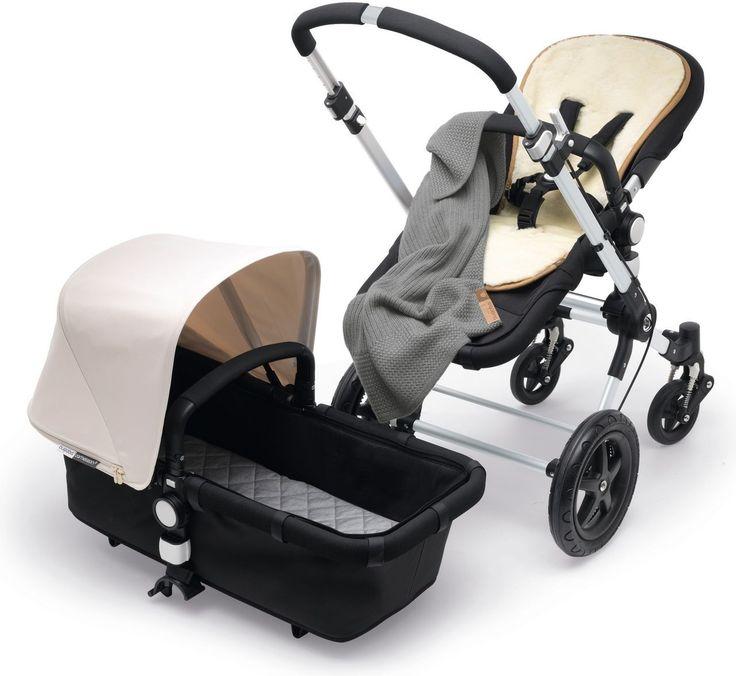 Bugaboo Wolldecke Soft Grey Melange - passend zu allen Kinderwagen - von Kleine Fabriek in Berlin