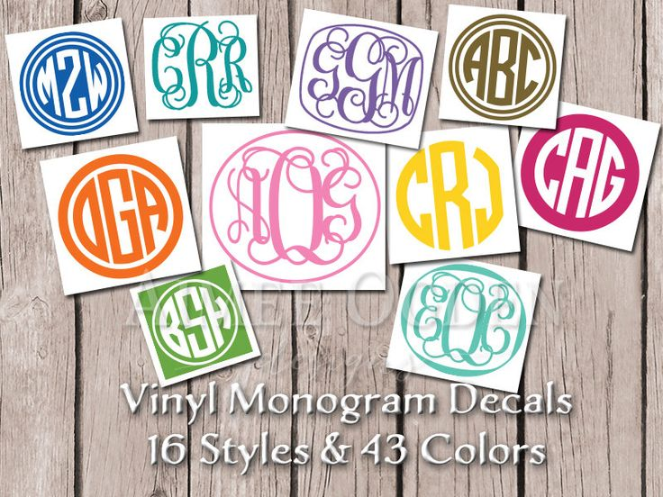 Best Monogram Images On Pinterest Monograms Monogram And - Monogrammed custom vinyl decals for car
