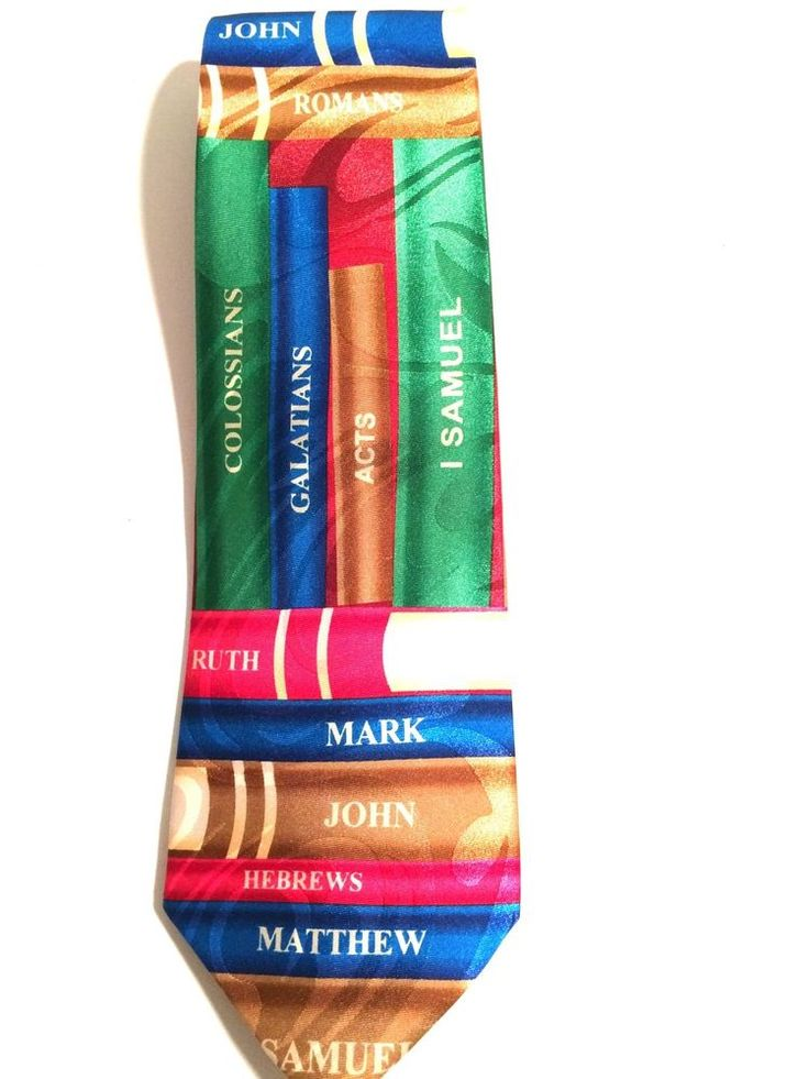 Books Of The Bible Neck Tie Revival Vacation Bible School Religion  #StevenHarris #Tie
