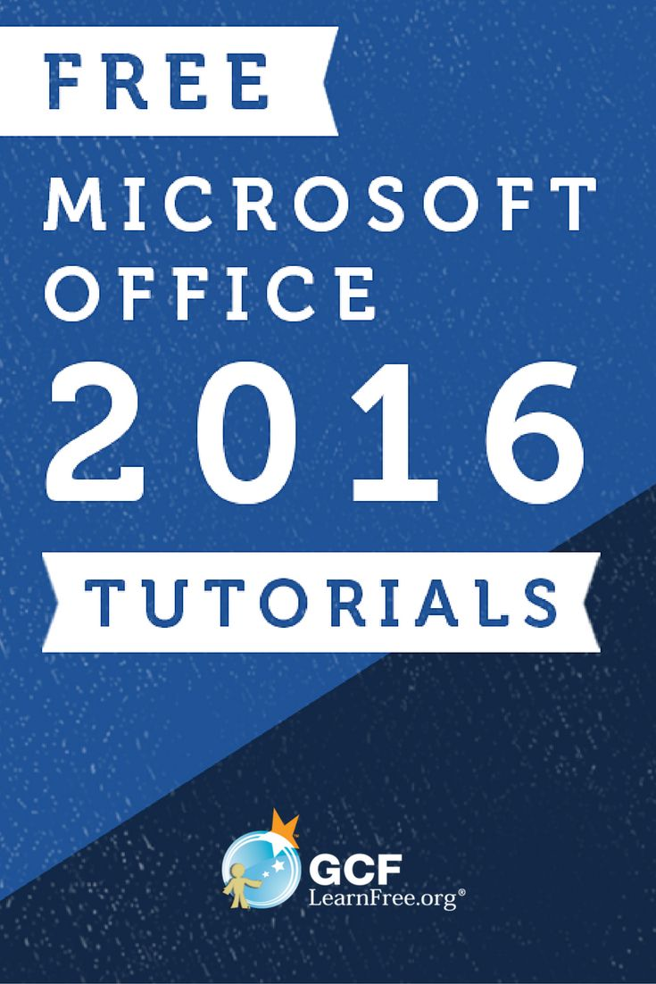 Update your skills for FREE using these Office 2016 tutorials from GCFLearnFree.org.