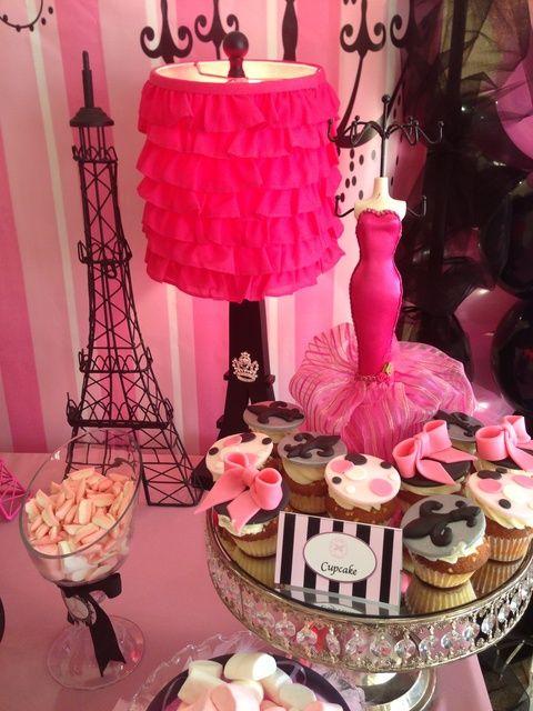 Cupcakes at a Paris Party #paris #party