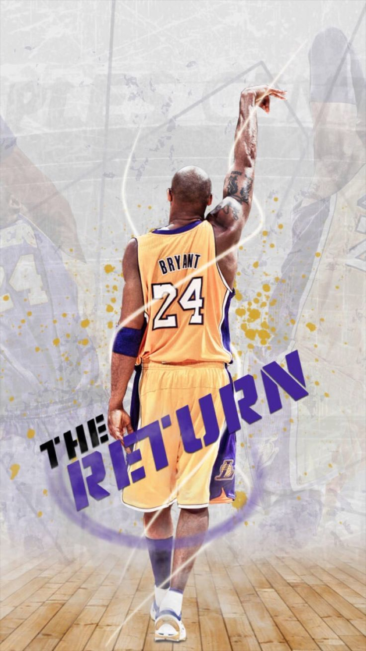 Bryant Kobe Nba Sports Super Star Iphone 8 Wallpapers Kobe