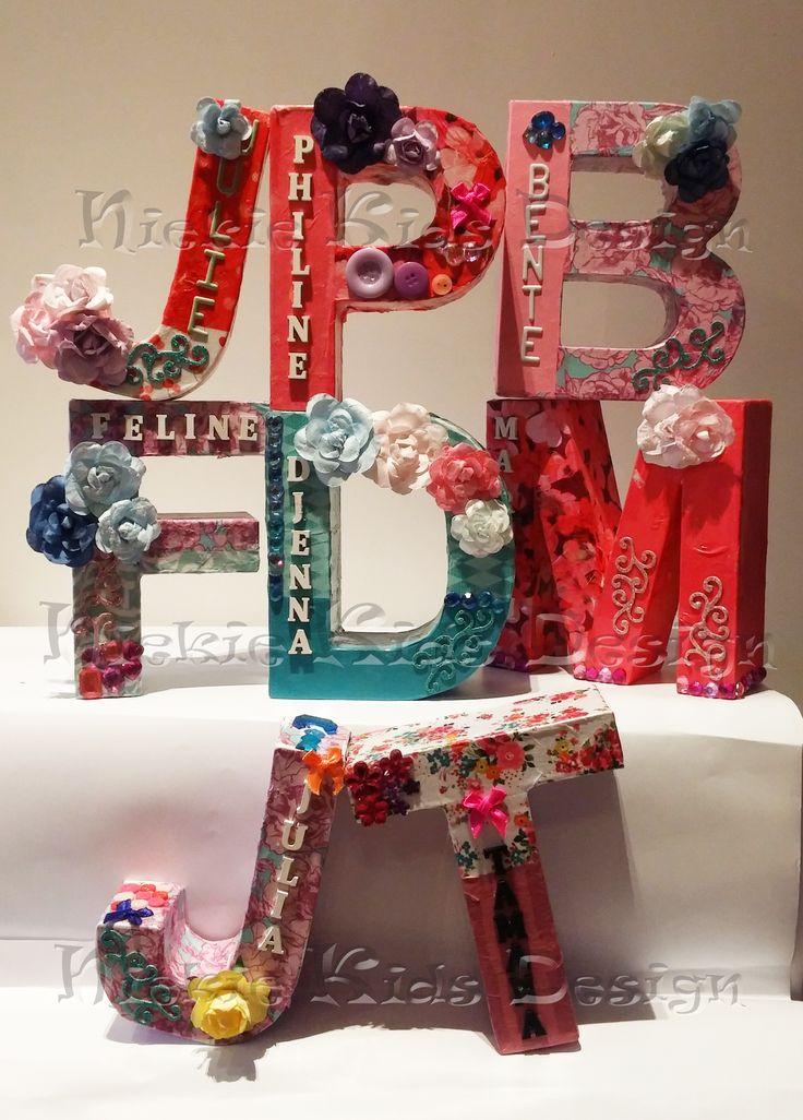 #Letters pimpen #kinderfeestje #Niekie Kids Design