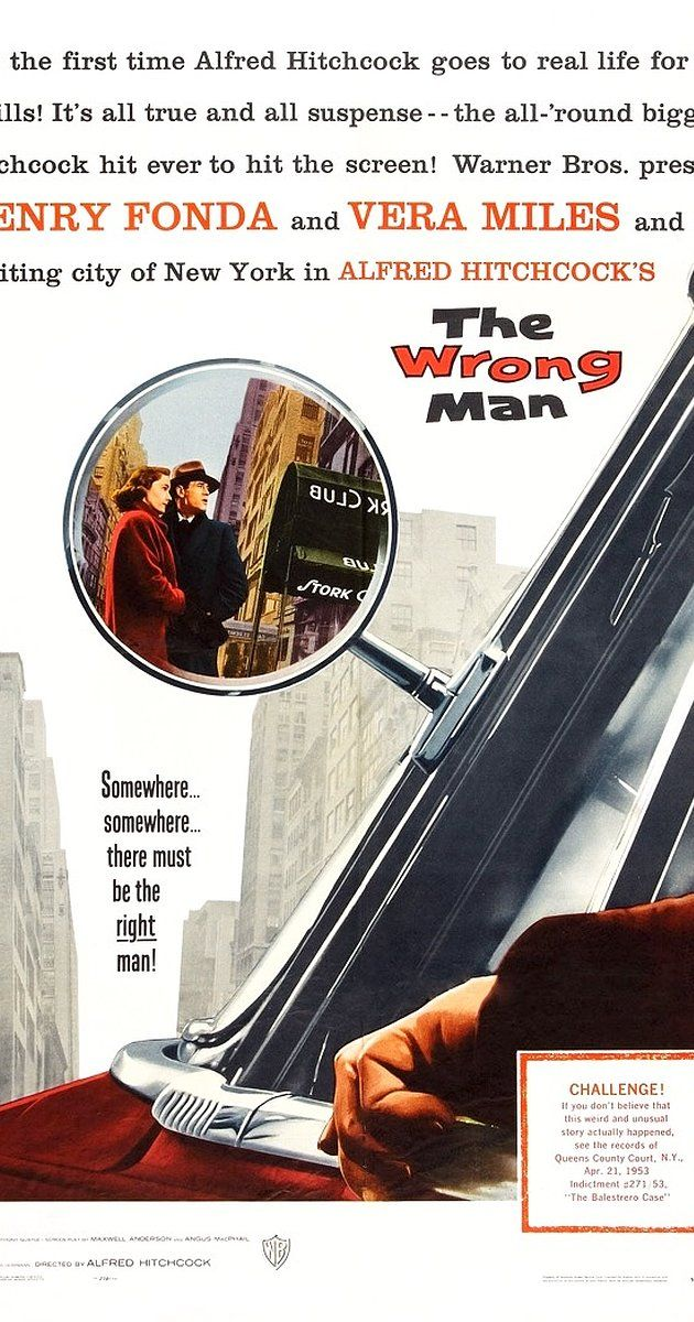 """Directed by Alfred Hitchcock.  With Henry Fonda, Vera Miles, Anthony Quayle, Harold J. Stone. In 1953, an innocent man named Christopher Emmanuel """"Manny"""" Balestrero is arrested after being mistaken for an armed robber."""