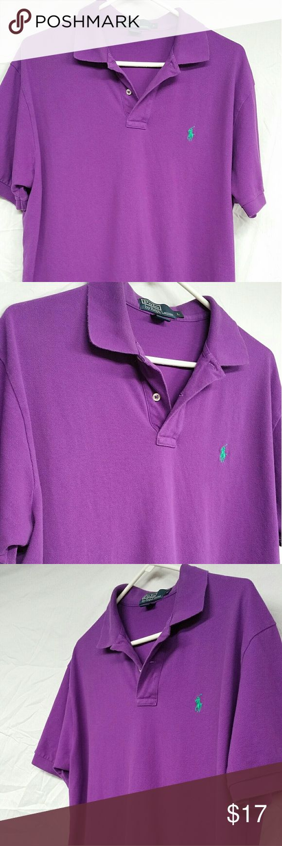 Mens Polo Ralph Lauren purple size L Very nice mens Polo Ralph Lauren.  Purple in color.  Not faded looking. No spots or rips. Polo by Ralph Lauren Shirts Polos