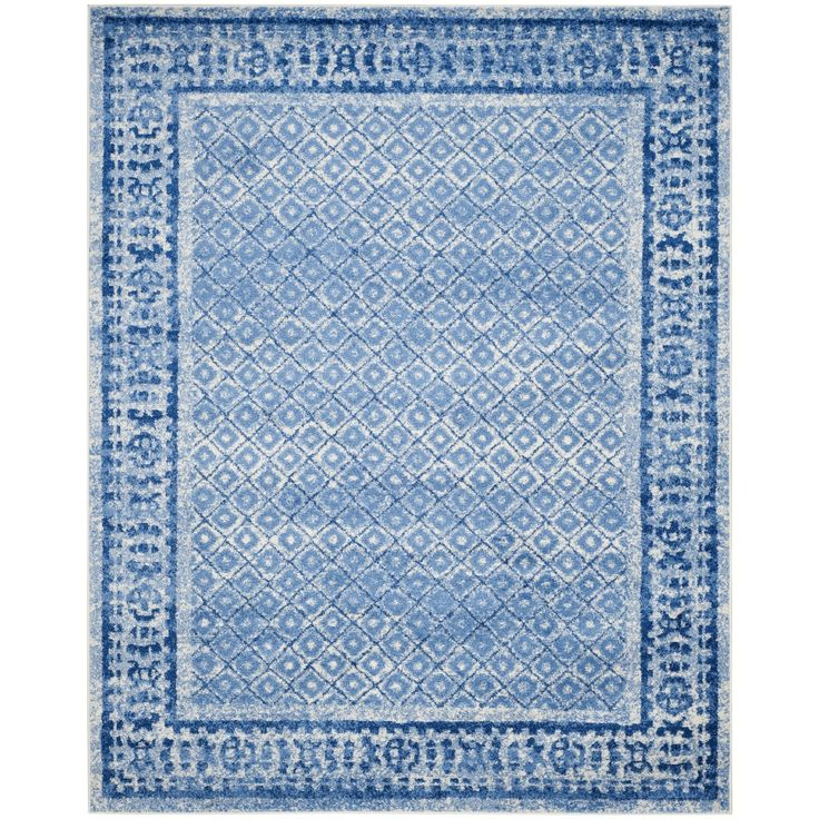 Features:  -Patterns are subject to change based upon rug size.  -Background color: White.  -Origin: Turkey.  Technique: -Machine woven.  Primary Color: -Silver and blue.  Material: -Synthetic.  Rug S