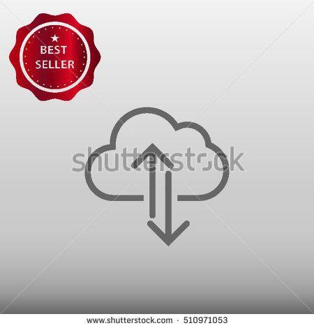 Cloud Upload / Download Vector Icon Illustration