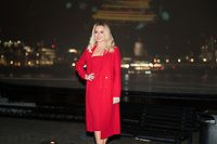 London, UK. 29th Nov, 2017. Amanda Holden launches npower's 'Light Sky' to support the Macmillan Cancer Support at Observation Point in Southbank in London, United Kingdom on November 29, 2017.