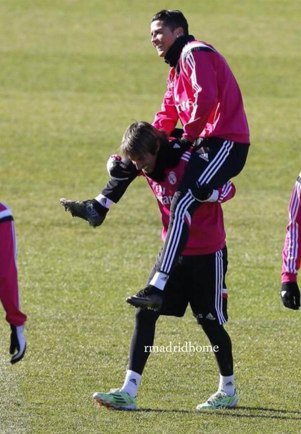 Training | Cristiano Ronaldo & Fabio Coentrao.
