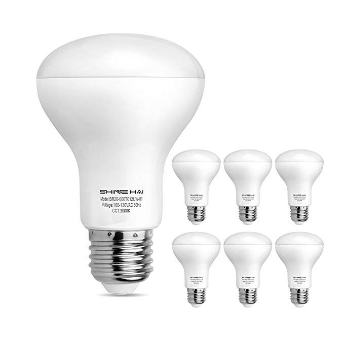 Shine Hai Br20 Led Light Bulbs 6w 50w Replacement Non Dimmable