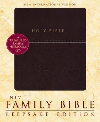 Family Holy Bible Keepsake Edition NIV-Burgundy