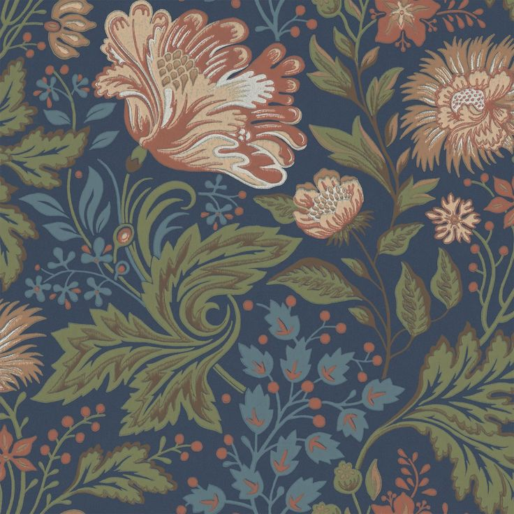 Ava - Dark Blue wallpaper, from the Brunnsnas collection by Sandberg