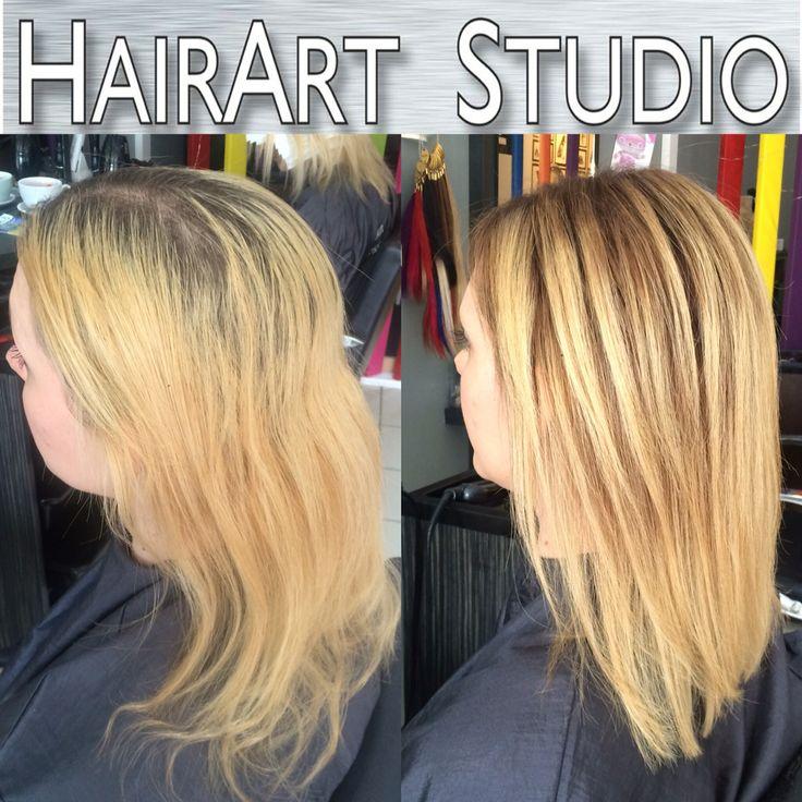 Balayage hair hull