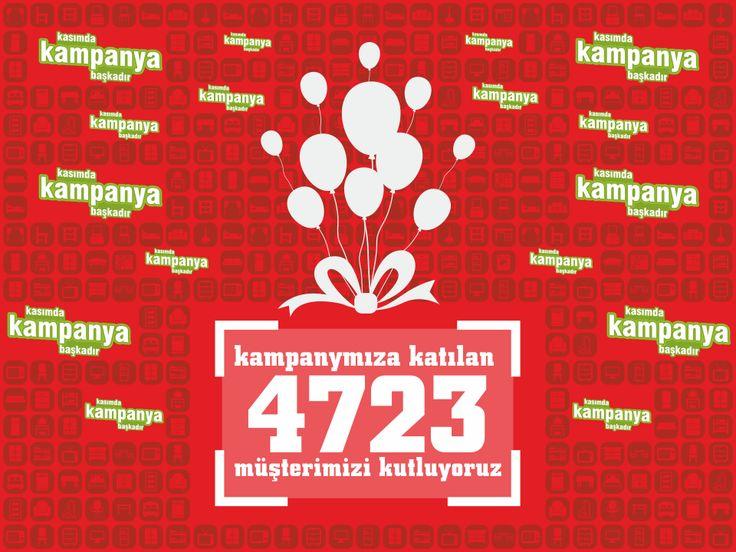 KAMPANYAMIZA KATILAN 4723 MÜŞTERİMİZİ KUTLUYORUZ ! #kasımda #kampanya #başkadır http://evimpark.com.tr/