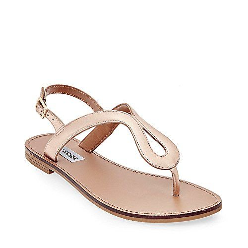 Steve Madden womens takeaway flat sandal rose gold