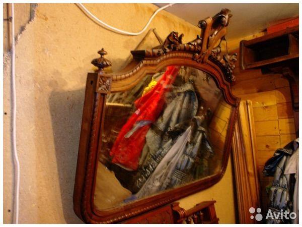 Овальное старинное зеркало — фотография №1