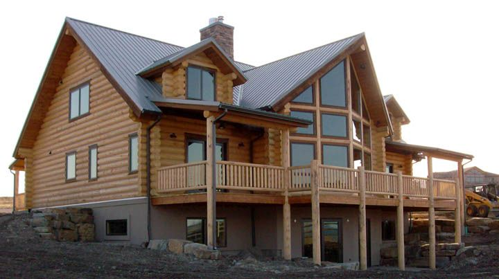 Columbia lodge custom log home design 6bdrm 4ba log cabin for Log home floor plans with garage and basement