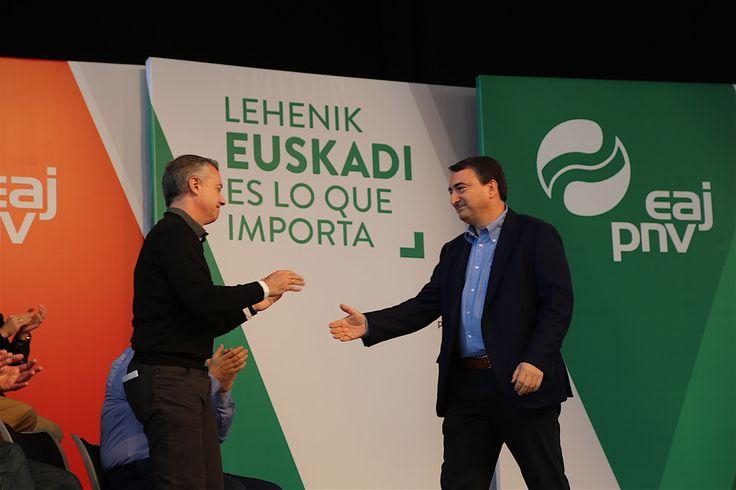 """'Lehenik Euskadi. Euskadi es lo que importa', """"inoiz baino gehiago, euskal hiritarrok gure etorkizuna jokoan izango dugun hauteskundeetarako goiburua"""".  'Lehenik Euskadi. Euskadi es lo que importa', eslogan de EAJ-PNV para unas elecciones """"en las que vascos y vascas nos jugamos más que nunca"""". #LehenikEuskadi"""