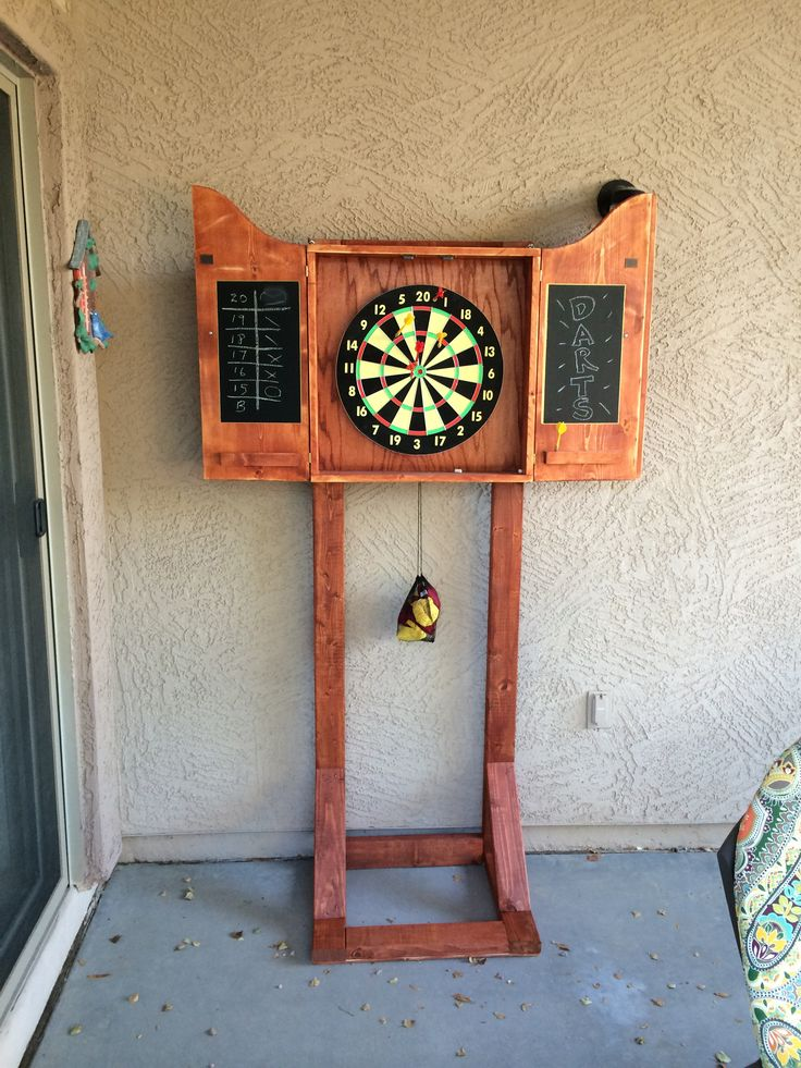 Dart Board cabinet stand  Wood projects Ive made