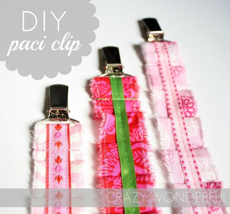 DIY Pacifier Clip - tutorial