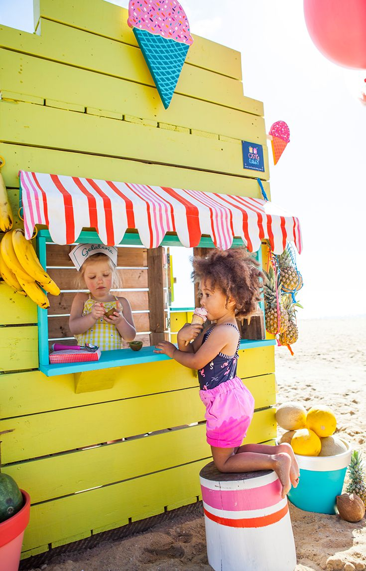 Castle and Cubby Gelato Shop Cubby - made from recycled timber in Melbourne, Australia
