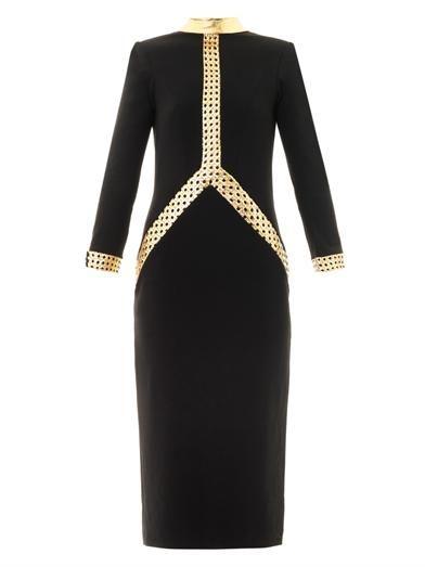 Lattice leather crepe dress | L'Wren Scott | MATCHESFASHION.COM