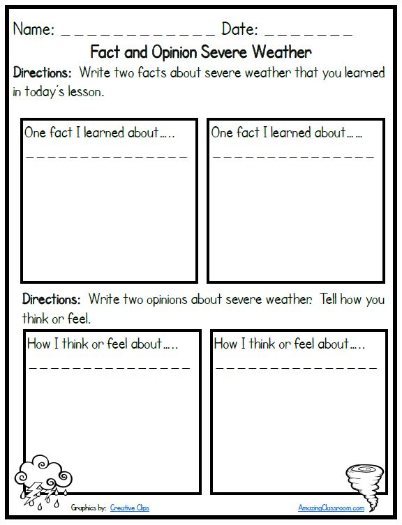 2nd Grade Weather Worksheets - Delibertad