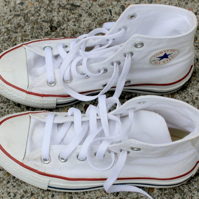 how to clean white converses