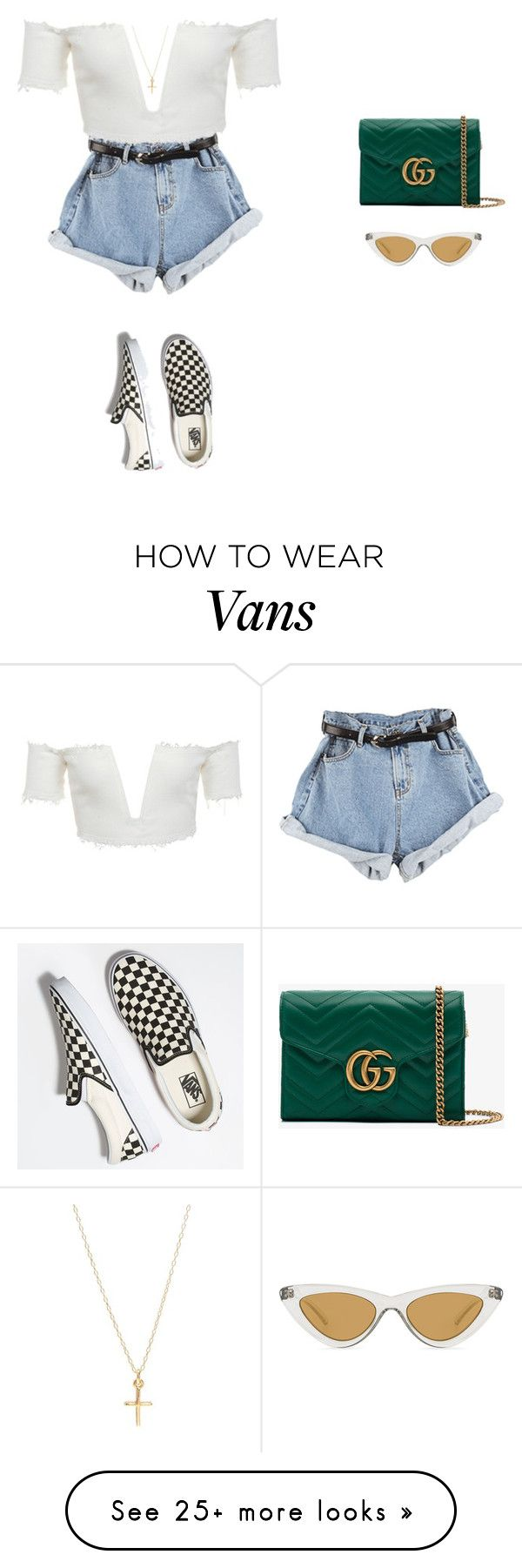 """Untitled #631"" by tiffvnyyy on Polyvore featuring Le Specs, Vans and Gucci"