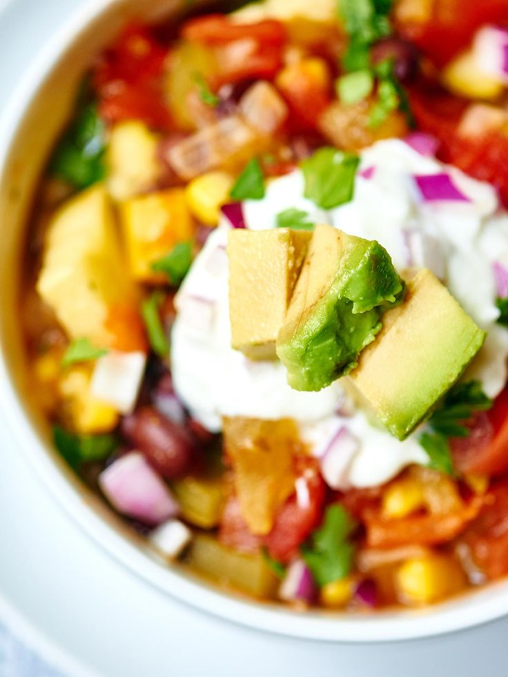Mexican Vegetable Soup - Chock full of veggies, subtly spicy, and makes a ton!
