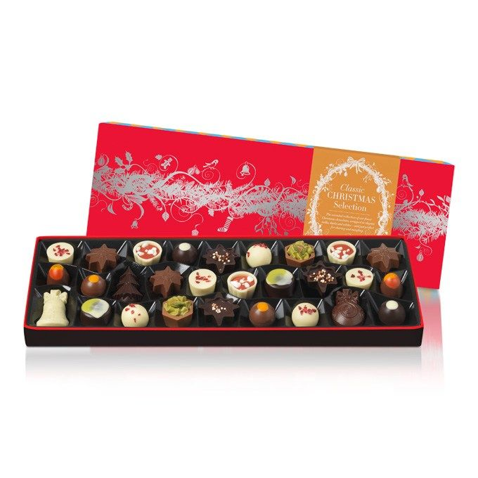 The Sleekster Classic Christmas Collection is a party of our finest Christmas chocolates,  wrapped in elegant milks, darks and whites – just perfect for sharing and mingling. #hotelchocolat #hcdreamhamper