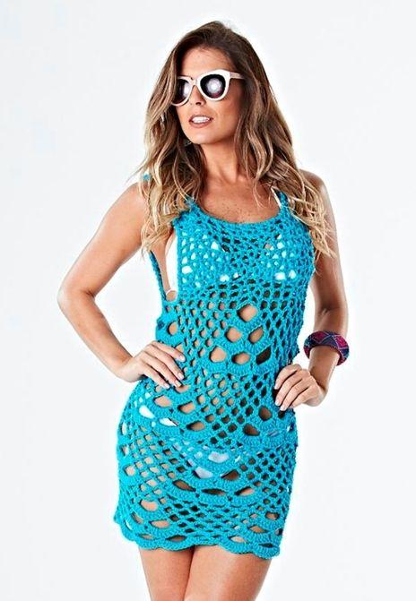 Пляжное платье крючком