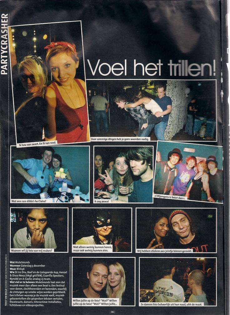 Partyscrasher MuteSounds in BINK VIJF HOOG - 3 december 2011