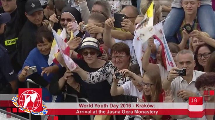 World Youth Day 2016 - Krakow, Poland - 2016-07-28 - Arrival At Jasna Go...